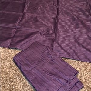 """40""""x62"""" purple blackout curtains set of 2"""